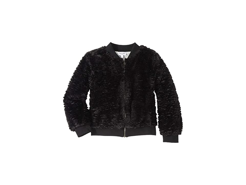 Splendid Littles Grammercy Faux Fur Jacket (Little Kids) (Black) Girl