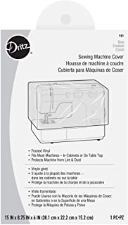 """Dritz 900 Dust Cover for Sewing Machine, 15"""" x 8-3/4"""" x 6"""", Frosted Vinyl"""