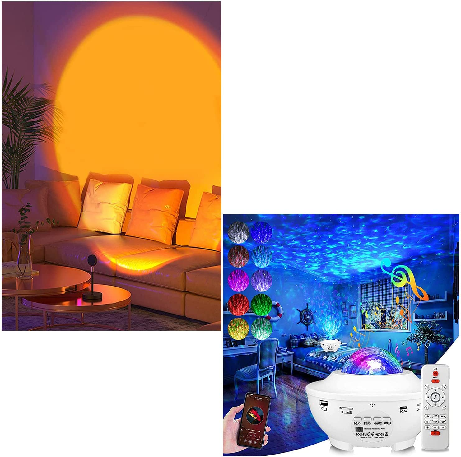 Sunset Lamp Star Galaxy Classic Projector Ranking TOP1 LED Light Projection Night w
