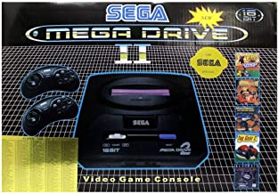 Sega Mega Drive 2 Video Game with Console 16 Bit Retro Handheld Game Player 5 Games Inside