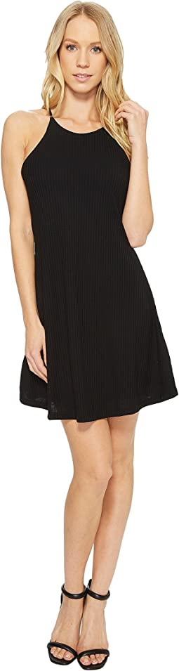 Victoria Spaghetti Strap Ribbed Dress