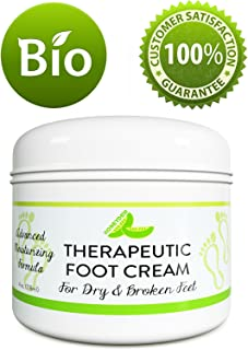 All Natural Shea Butter Moisturizing Foot Cream for Dry and Cracked Feet – Foot Care Lotion for Cracked Heels – Ultra- Hydrating Cream with Coconut Oil and Jojoba for Men and Women – 4oz
