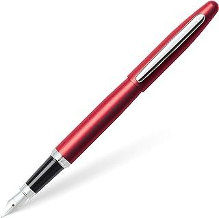 Sheaffer Vfm Excessive Red Fountain Pen with Chrome Trim and Fine Nib