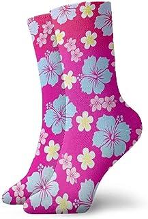 yting, Calcetines estampados de flores de fiesta hawaiana divertida loca para niños y niñas