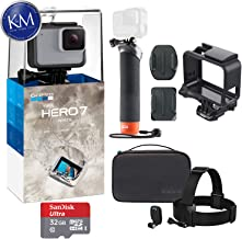 GoPro Hero 7 (White) Action Camera with GoPro Adventure...