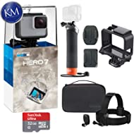 GoPro Hero 7 (White) Action Camera with GoPro Adventure Kit Essential Bundle