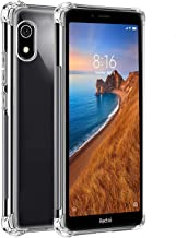 Tarkan Shock Proof Protective Soft Back Case Cover for Redmi 7a (Transparent) [Bumper Corners with Air Cushion Technology]