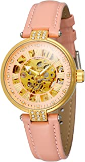 Forsining Women's Automatic Self-Winding Analog Fashion Dial Leather Strap Wristwatch