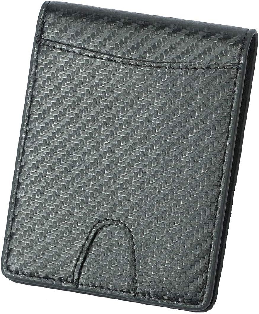 Bi-fold wallets for men - RFID Carbon Leather wallets Slim Wallet With 2 ID Window