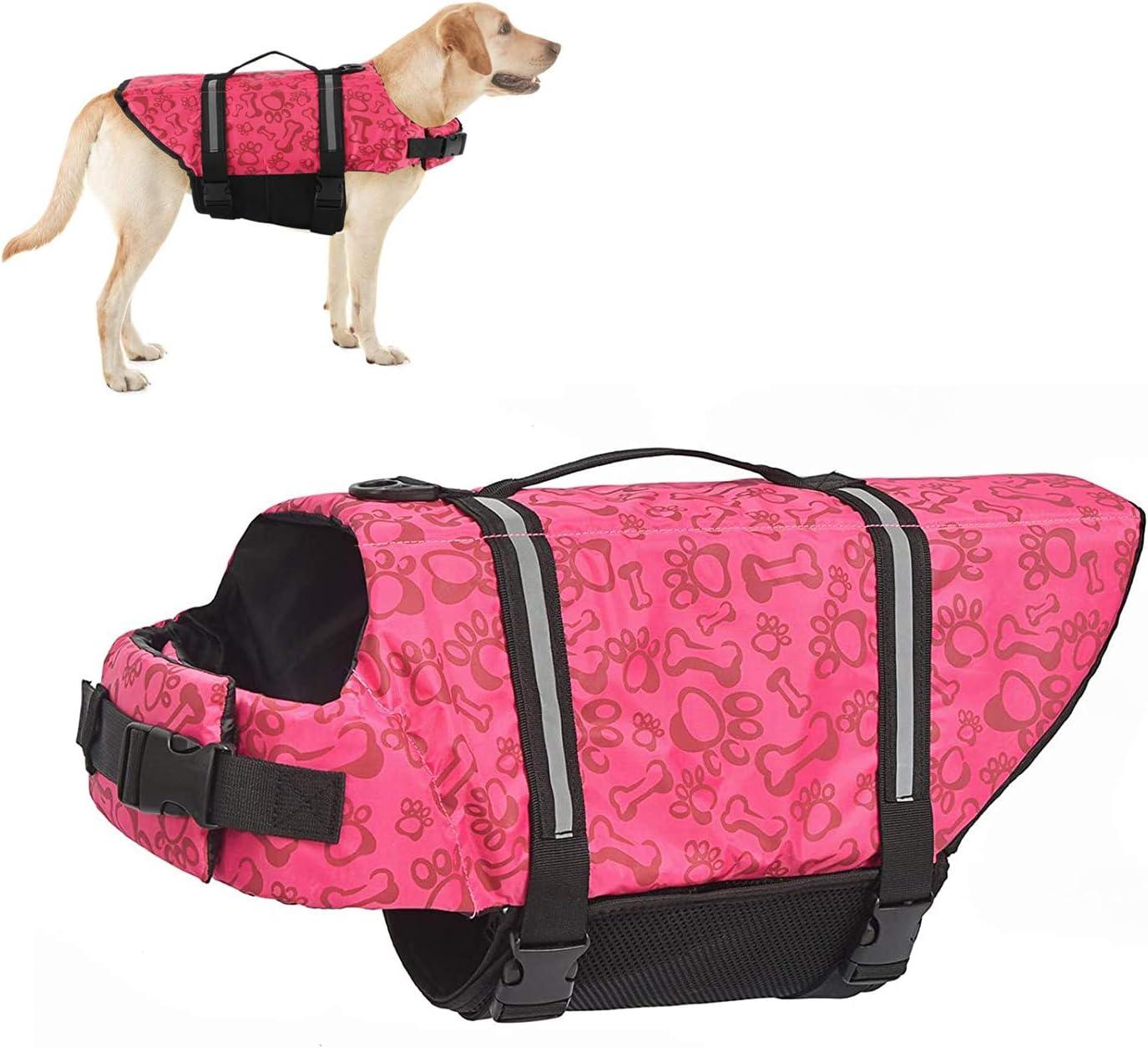 HOTGOL Max 42% OFF Dog Life Jacket Adjustable Safety Pet with Reflectiv half Vest