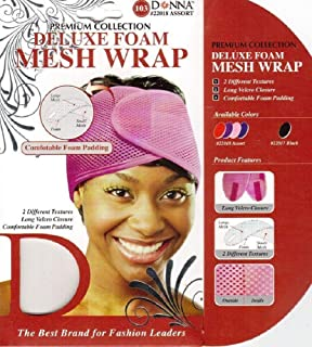 DONNA PREMIUM COLLECTION DELUXE FOAM MESH WRAP #22018 ASSORT [PACK OF 3]