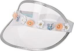 Betsey Johnson - Clear with Flowers Visor