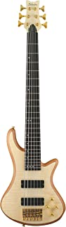 $749 » Schecter Stiletto Custom-6 Electric Bass (6 String, Left Handed, Natural Satin)
