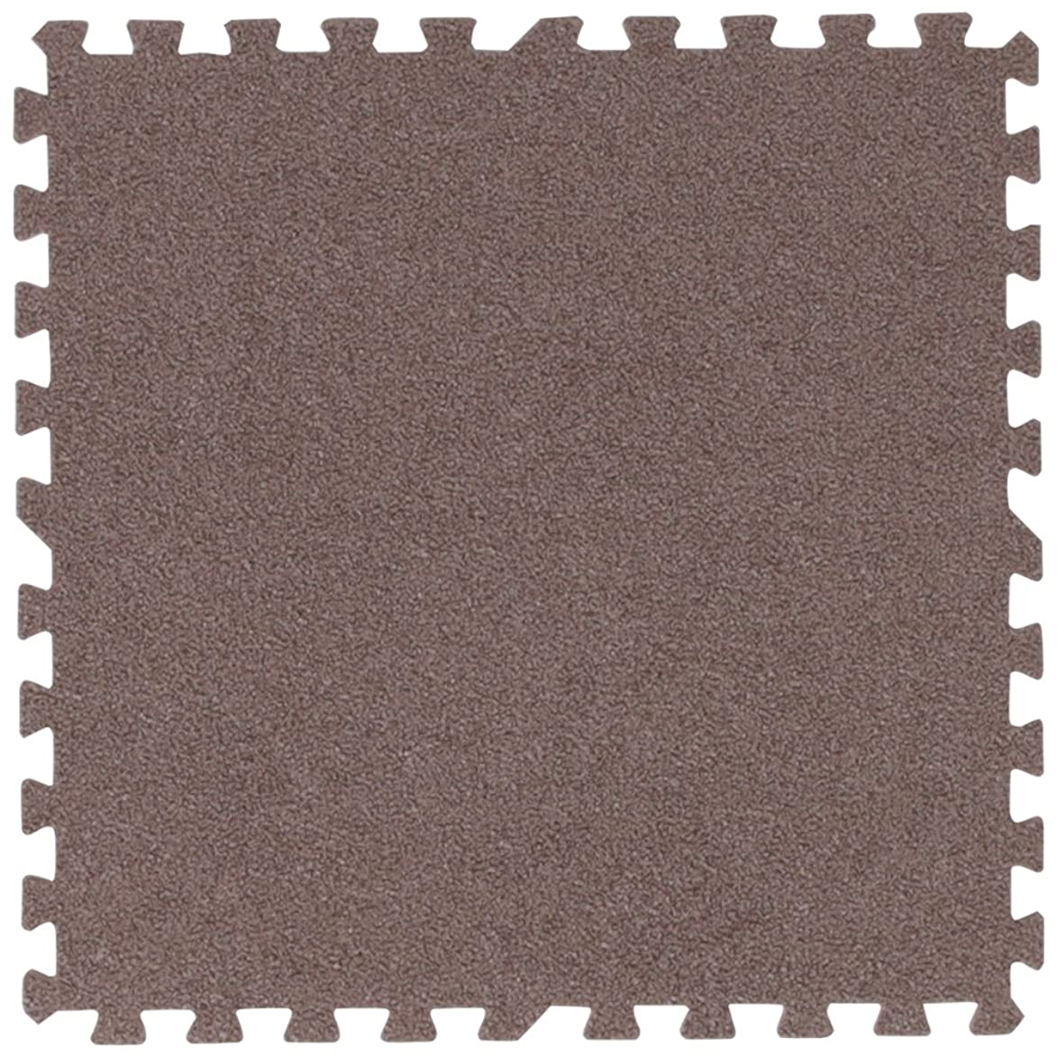 キャプション空虚君主アイリスプラザ  ジョイントマット カーペットタイプ  30×30cm 0.5畳用 9枚組 厚さ0.8cm ブラウン ノンホルムアルデヒド 防音 洗える JM-H3008NP