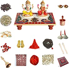 Indian Handicrafts Export Deepawali Pooja Samagri, Goddess Laxmi & Lord Ganesh Pooja Samagri Kit for Diwali || Diwali Pooj...