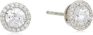 اقراط هالو بدبوس من الفضة الاسترلينية مزينة بحجر زركونيا مكعب للنساء من مايكل كورس