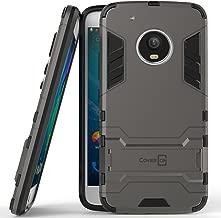 Moto G5 Plus Case, Moto G Plus 5th Generation Case, Moto X 2017 Case, CoverON [Shadow Armor Series] Hard Slim Hybrid Kickstand Phone Cover for Motorola Moto X (2017 Version) / G5 Plus Gray/Black