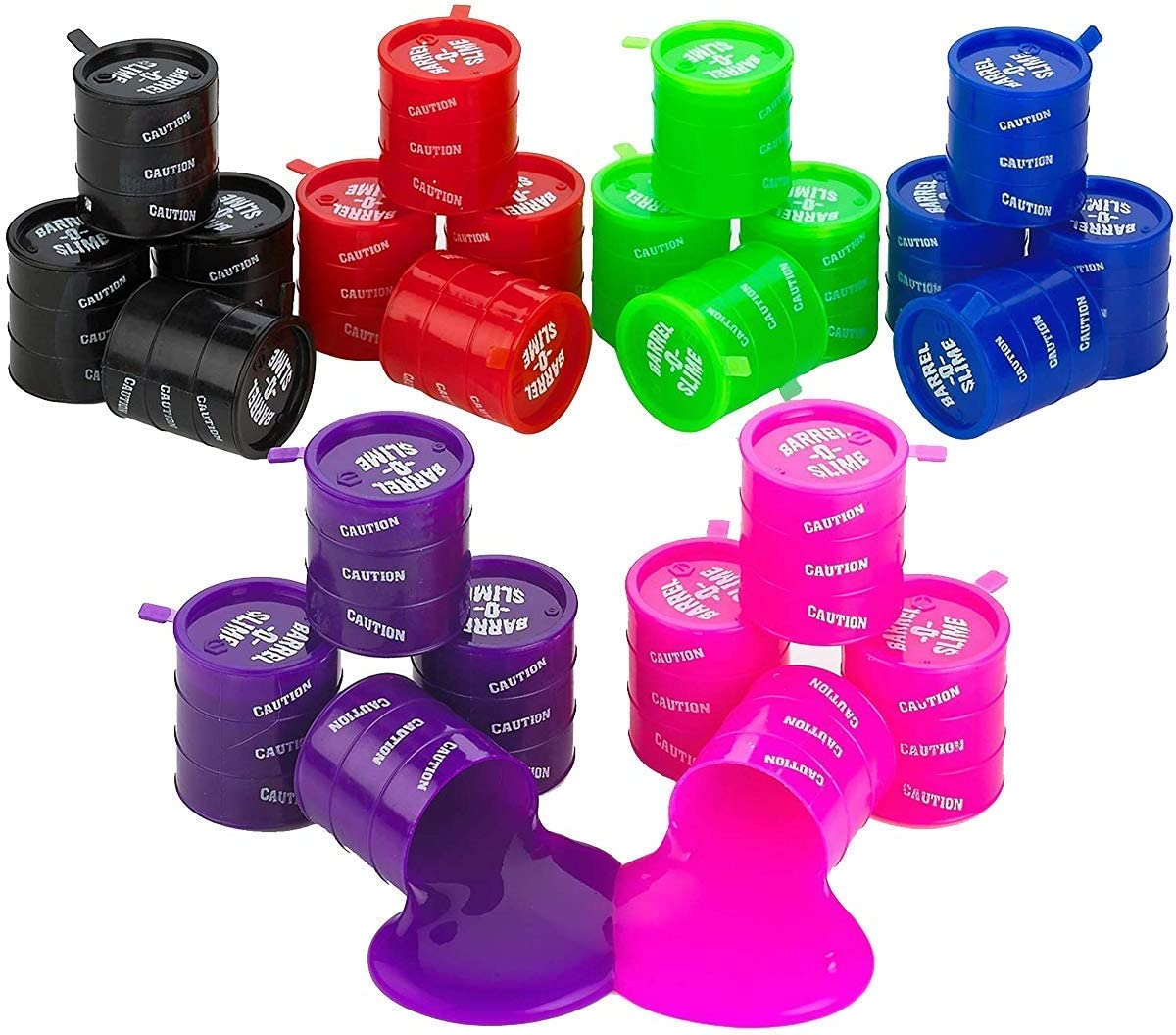Kicko Small Barrel New Orleans Mall of Slime - Colors Assorted Pack 24 Large-scale sale Containe