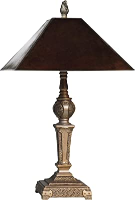 Springdale SPT18372 Mica Globe Table Lamp, 20-Inch, Antique Golden Silver