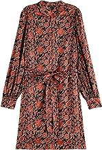 Scotch & Soda Printed mini dress with waist tie dames jurk
