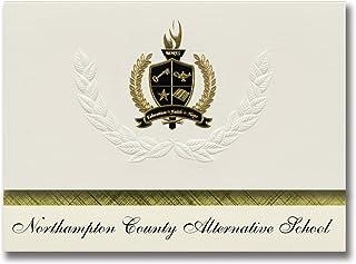 Signature Announcements Northampton County Alternative School (Seaboard, NC) Abschlussankündigungen, Präsidential-Elite-Pack, 25 Stück, mit Goldfarbener und schwarzer Metallic-Folienversiegelung B078VDTLNY  Praktisch und wirtschaftlich