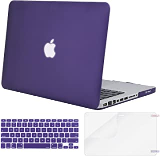 MOSISO Plastic Hard Shell Case & Keyboard Cover & Screen Protector Only Compatible with Old Version MacBook Pro 13 Inch (A1278, with CD-ROM), Release Early 2012/2011/2010/2009/2008, Ultra Violet
