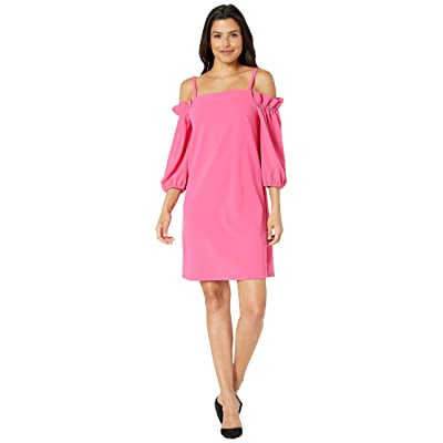 Laundry by Shelli Segal Off the Shoulder Shift Dress (Hot Pink) Women