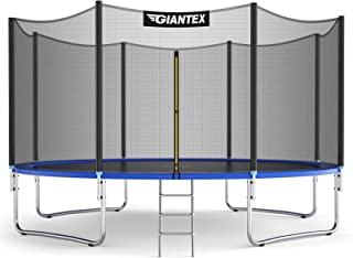 Selomore Trampoline Round Jumping Table with Safety Enclosure Net Sping Pad Combo Bounding Bed Trampoline Fitness Equipment Outdoor Large Bungee Bed 12 Ft//Summer Exercise for Adult Kids Indoor