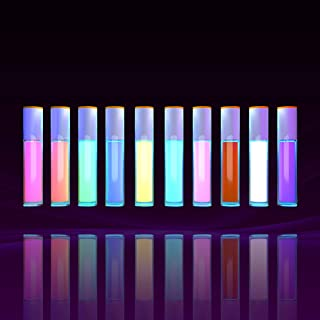 12 Colorful UV Glow Matte Eyeliner Luminous Eyebrow Lip Pen Cosmetic Body Face Makeup Kit Reactive Fluorescent Paint Tool ...