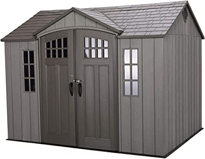 Amazon com : Lifetime 6446 Outdoor Storage Shed with