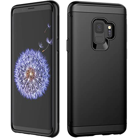 JETech Case for Samsung Galaxy S9 (NOT for Plus +), Dual Layer Protective Cover with Shock-Absorption, Black