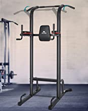 MaxKare Power Tower Workout Dip Stand Pull Up Bar Station Professional Strength Training Fitness Equipment Durable & Stabl...