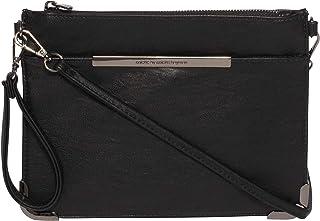 Black Front Pocket Peta Crossbody Bag
