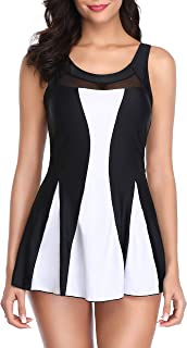 Women's Slimming Swimdress Cover Up Tummy Control Swimwear Bathing Suits Swimsuits for Women