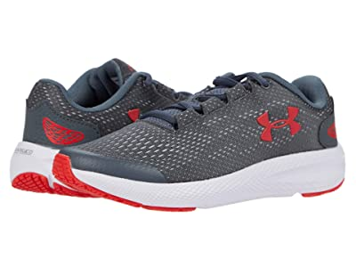 Under Armour Kids Charged Pursuit 2 (Big Kid) (Pitch Gray/White/Versa Red) Boys Shoes
