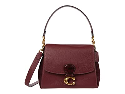 COACH Mixed Leather with Snake Trim May Shoulder Bag