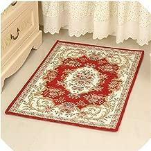Retro Feeling Rugs Bath Mats for Bathroom,Flower Pattern Anti Slip Mat Carpet Rugs for Bathroom, Toilet Mat Carpet,029hong,About 60x90cm