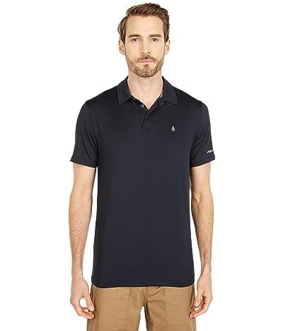 Volcom Hazard Perf Short Sleeve Polo (Black) Men