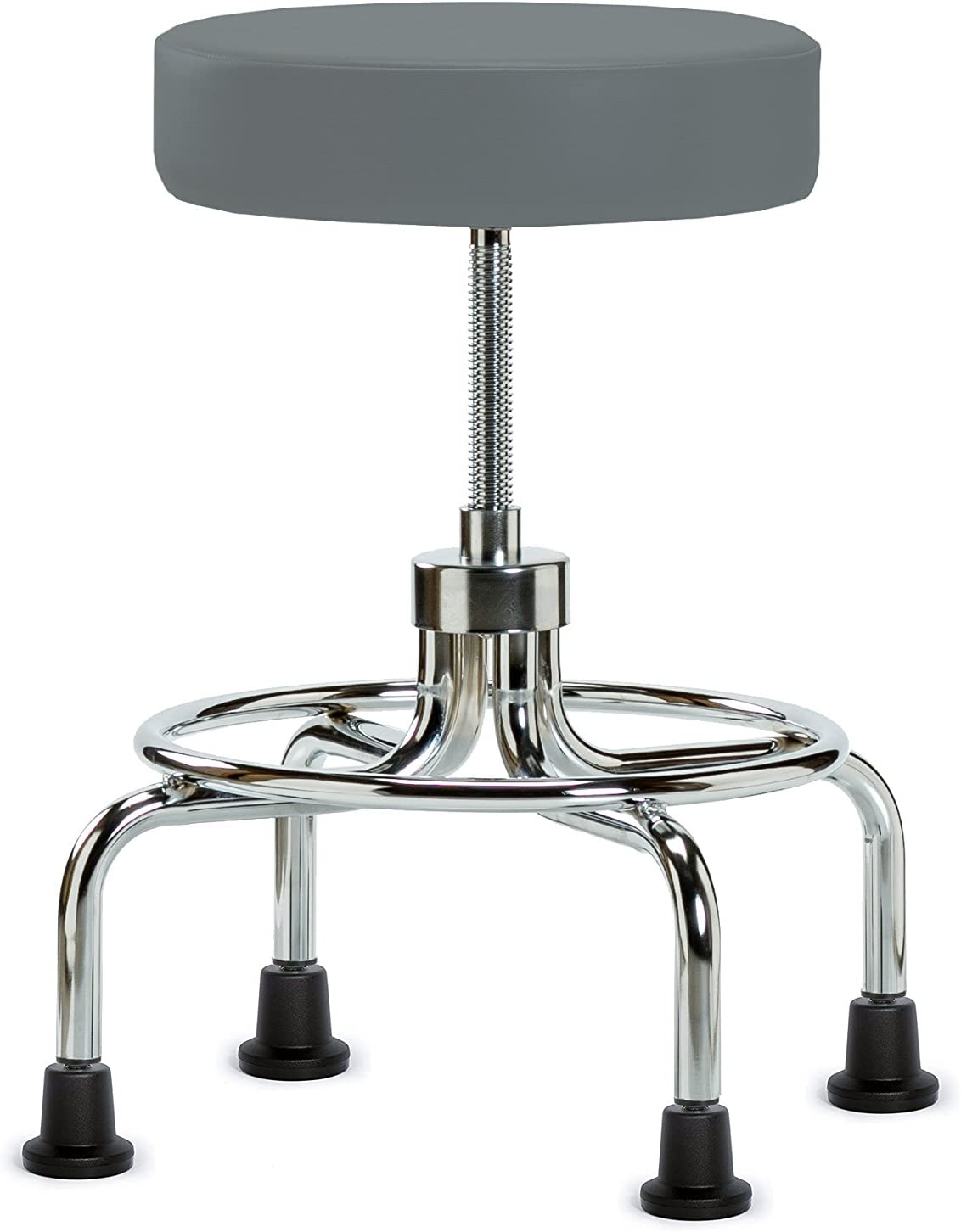 Sales for sale Perch Retro Rolling Exam Stool OFFicial site Caps Fabr with Stationary Cinder