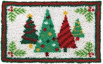 "Ylkgogo Latch Hook Kits DIY Christmas Crocheting Rug Embroidery Shaggy Decoration Family Gift and Activity 20"" X 14.5"" (Christmas Tree)"