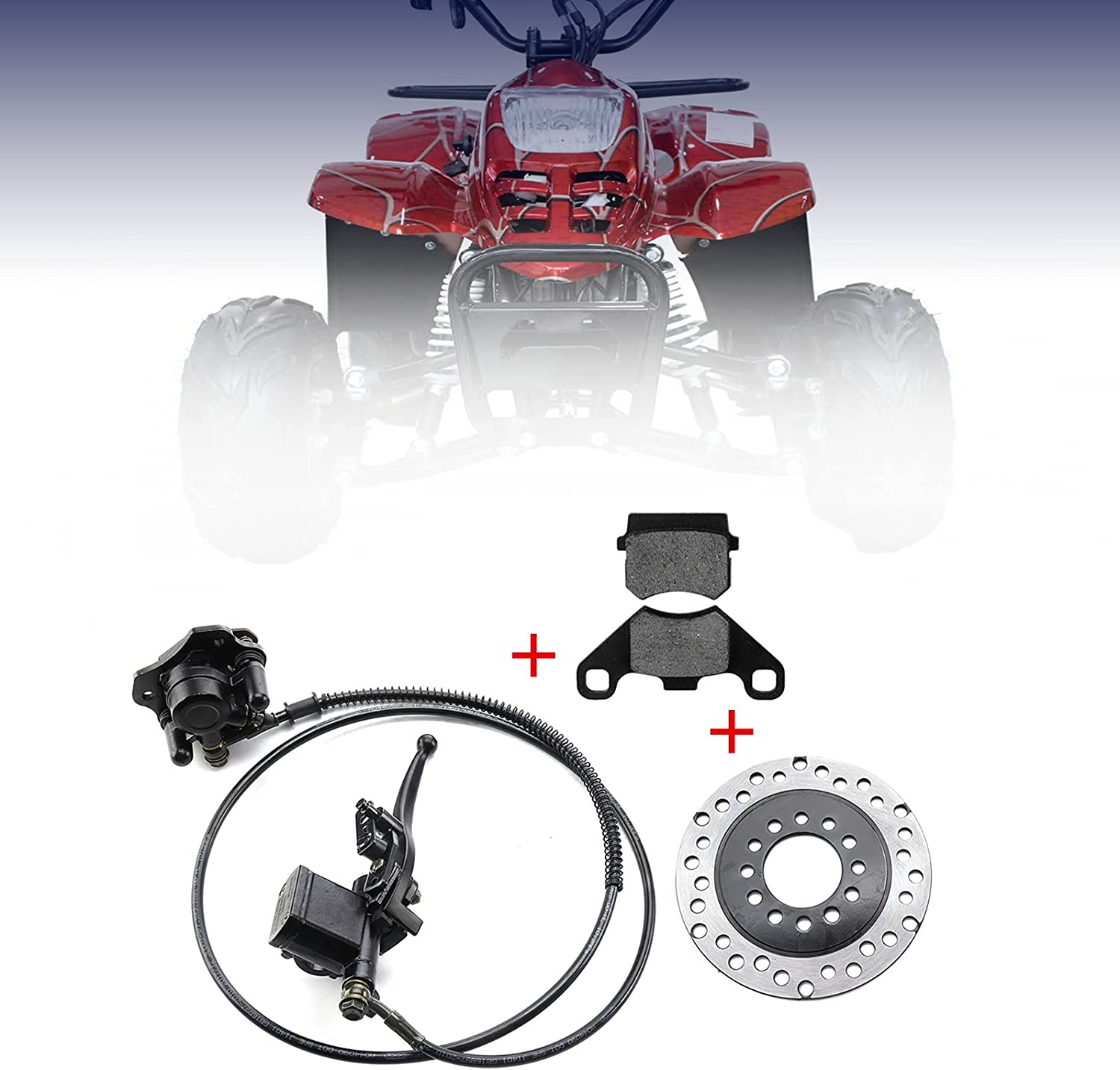 MOFANS ATV Brake Max 77% OFF Fort Worth Mall Master Cylinder Brak Assembly with Caliper Disc