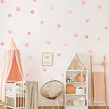 HGFJG 36 Stks/set Aquarel Stippen Muursticker Roze voor Kids Kamer Slaapkamer Decals DIY Vinyl Kwekerij Kantoor Mooie Home...