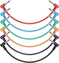 Donner 12 Inch Patch Colored 6-Pack Guitar Effect Pedal Cables