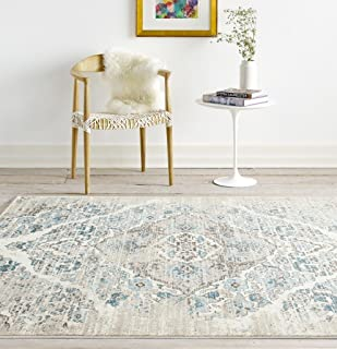 Persian Area Rugs 4620 Cream 5 x 7 Area Rug