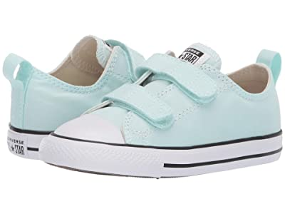 Converse Kids Chuck Taylor(r) All Star(r) 2V Seasonal Ox (Infant/Toddler) (Teal Tin/Natural Ivory/White) Girls Shoes