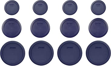 Pyrex (4) 7202-PC 1 Cup (4) 7200-PC 2 Cup (4) 7201-PC 4 Cup Blue Replacement Lids