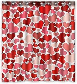 KXMDXA Valentine's Day Gift Pattern Waterproof Polyester Bath Shower Curtain Size 66x72 Inch