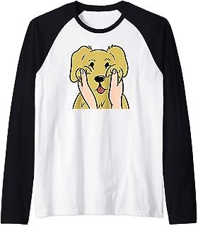 Golden Retriever Chubby Cheeks Funny Dog Gift  Raglan Baseball Tee