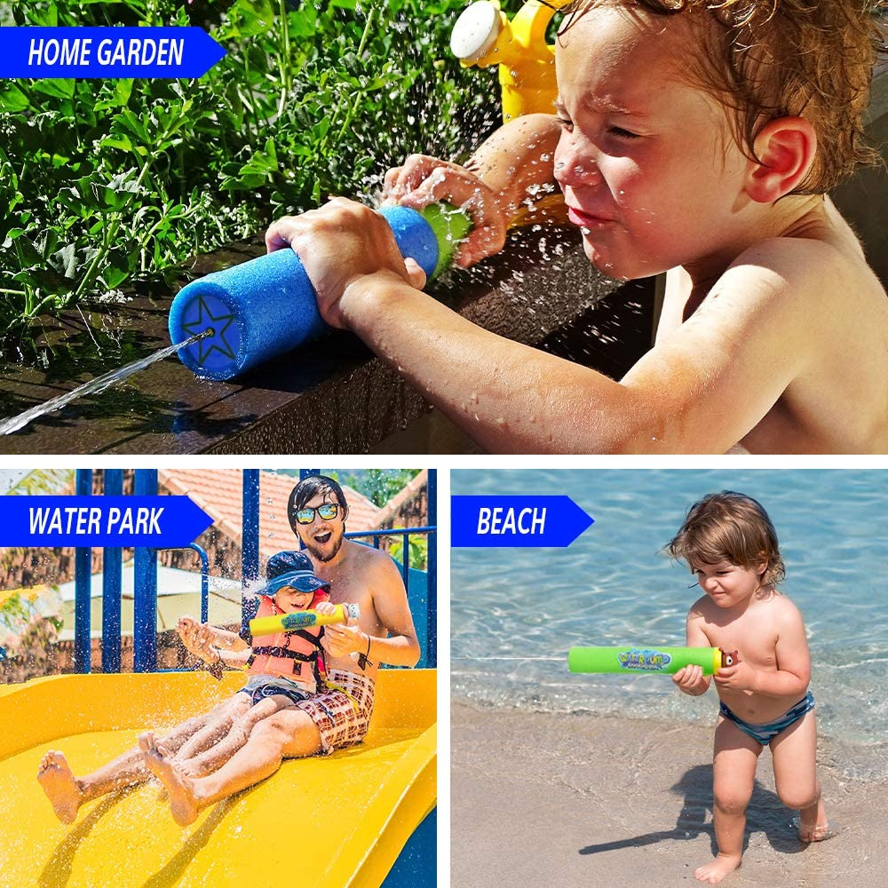 Water Guns for Kids with 6 Animals Figures 6 Pack Foam Water Blaster Squirt Guns Set Super Soaker Water Guns for Kids Great Gifts for Children & Adult Summer Swimming Pool Beach Water Fighting Party: Toys & Games