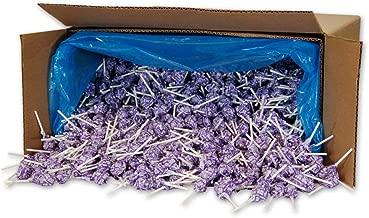 Dum Dums Color Party Lollipops, Purple, Grape Flavor, Bulk 30lb Box, 2,340 Count